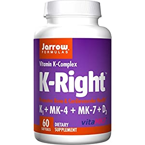 Jarrow Formulas K Right, Promotes Bone & Cardiovascular Health, Vitamin K Complex, 60 Softgels