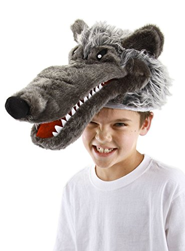 elope Big Bad Wolf Plush Costume Hat for Kids and -