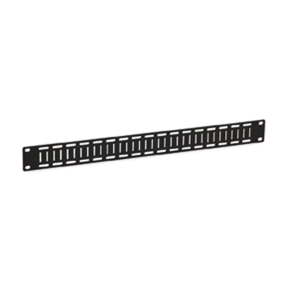 1U Flat Cable Lacing Panel - 10 pack