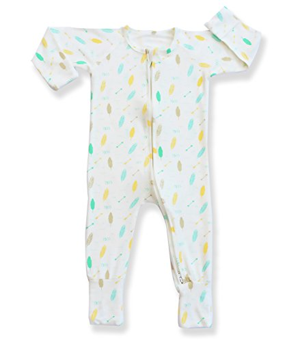 pajammie-zipsuit-unisex-baby-bamboo-and-organic-cotton-pajama-footie-sleeper-3-6-months-tribal-paste