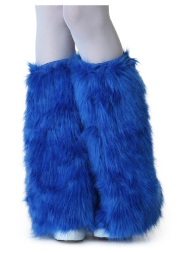 Adult Royal Blue Furry Boot Covers - ST