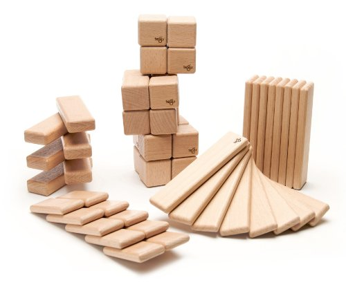 52 Piece Tegu Original Magnetic Wooden Block Set, Natural by Tegu