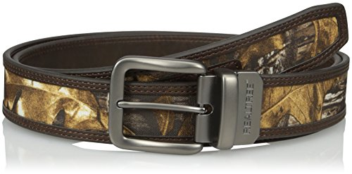 Realtree Men's Big-Tall Reversible Belt with Camo Inlay, Camo/Brown, 50/52