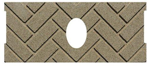 PelletStovePro - Whitfield HERRINGBONE Firebrick Cerra Board for Quest (Oval) - 13646500 (Herringbone Firebrick)
