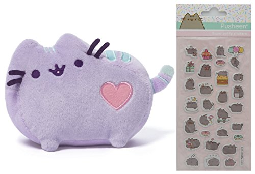 Gund Purple Pastel Heart Pusheen 6