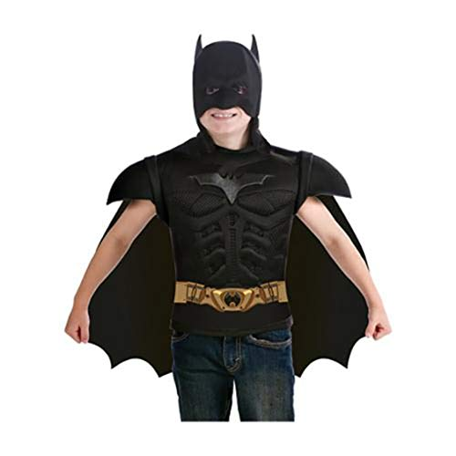 Batman The Dark Knight Rises Muscle Chest Costume Shirt with Cape and Mask