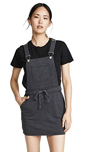 (Z SUPPLY Women's Skirt Overalls, Black, Small)