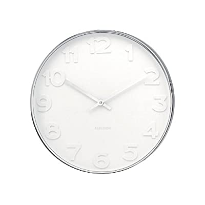 Karlsson Oversized Modern Wall Clock - Unique & Contemporary Big Wall Clock - Karlsson Wall Clocks are a perfect home and wall décor item. Wall Hanging Clocks: easy to install with the provided hardware. Simple yet modern design are the hallmark of the renowend Karlsson clocks brand. - wall-clocks, living-room-decor, living-room - 41Dbgg7QvJL. SS400  -