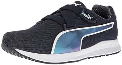 PUMA Women's Burst Alt Pearl WN's Cross-Trainer Shoe, Peacoat-Puma White, 6 M US