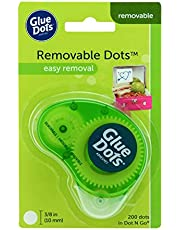 Glue Dots 03669 Dot N' Go Removable Adhesive Dispenser, 200 Dots,1 Pack,Clear,03669E