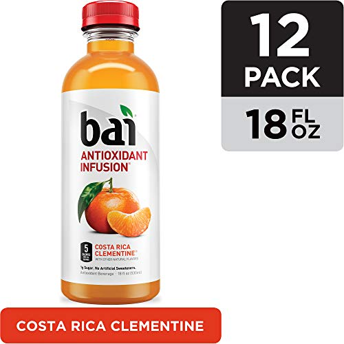 Bai Costa Rica Clementine Antioxidant Infused Beverage, 18 Fluid Ounce (Pack of 12)