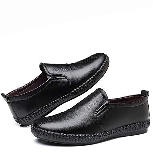 Y Vestir Negro Suave Moda Oxford On Formal Liviano Casual De Shoes Cómodo Masculina Slip Zapatos Gby YZwqUC