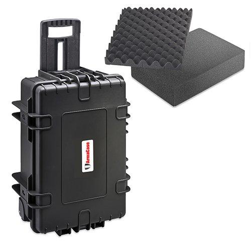 (Armacase Ac6700Bf Black Rolling Case Full Foam 21X 14.1 X 8.9)