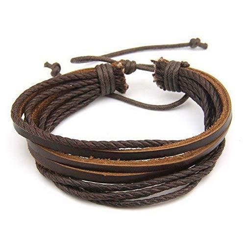 Coin Replica Cameo (Hemau Fashion Unisex Tribal Women/Men Surfer Wrap Multilayer Leather Cuff Bracelet New | Model BRCLT - 617 |)