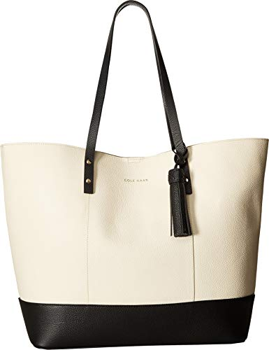 Cole Haan Women's Bayleen Tote Ivory/Black One Size Cole Haan Handbag Purse