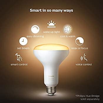 Philips Hue 2-pack White Ambiance Br30 60w Equivalent Dimmable Led Smart Flood Light (Works With Alexa Apple & Google Assistant) 7