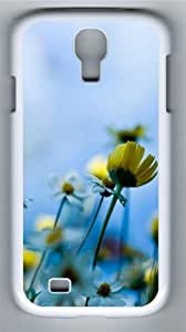 Fresh daisies PC Case Cover for Samsung Galaxy S4 and Samsung Galaxy I9500 White