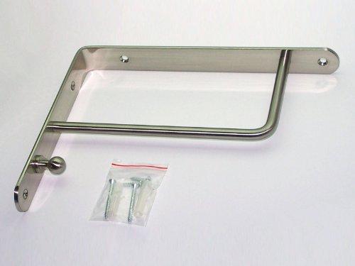SO-TECH® Garderobenkonsole RK01 Regalkonsole mit Kleiderhaken Edelstahloptik