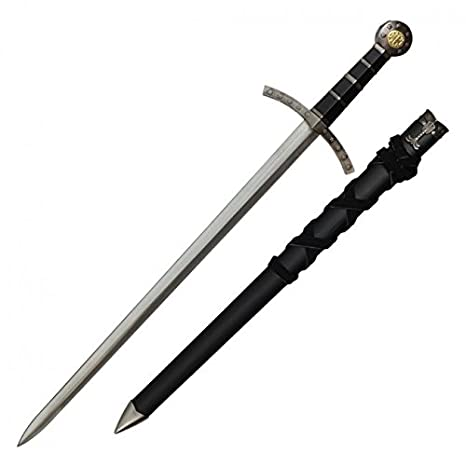 amazon com middle ages broad sword matching scabbard black