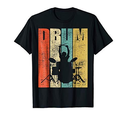 Drummer T-Shirt Drums Tshirt Drum Set Tee Gift Drumline