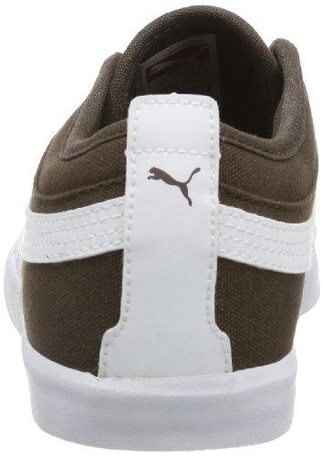 Puma Elsu Bluchertoe Canvas - Caña baja de lona unisex marrón - Braun (choc brown-white 04)