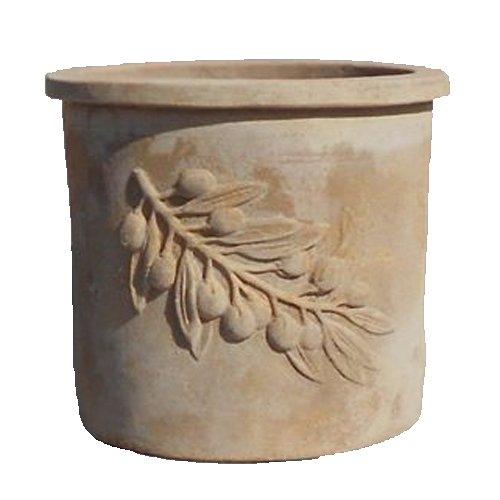 オリーブ ラウンド アンティコ 50 cm/テラコッタ/植木 鉢 プランター B0148U8BL2  ノーマル