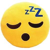 Frantic Premium Quality Sleeping Smile Soft Smiley Cushion - 35 cm