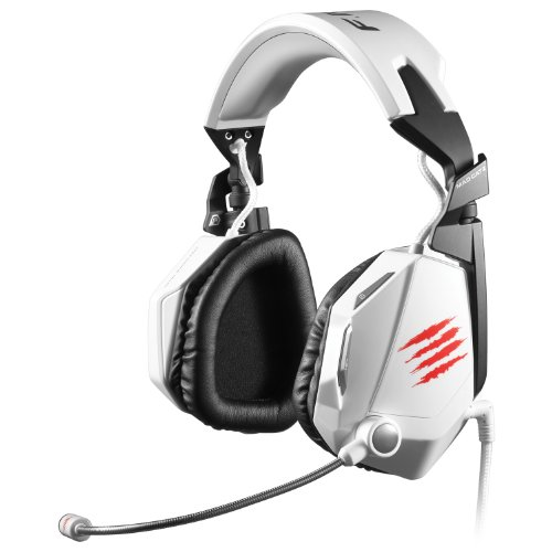 Mad Catz F.R.E.Q.5 Stereo Gaming Headset for PC and Mac, White