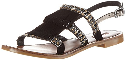 Inuovo 7350, Women's Ankle Schwarz (Black-pewter)