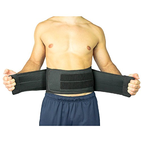 Back Brace by Vive - Lower Support for Chronic Pain, Sciatica, Spasms, Nerve and Herniated or Slipped Disc - Adjustable Lumbar Wrap for Pain Management and Relief by VIVE