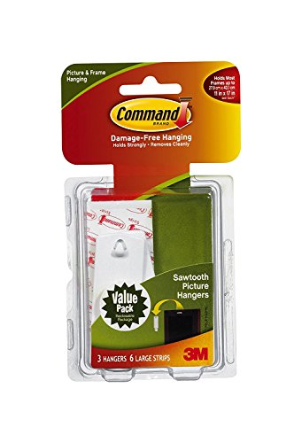 Command Sawtooth Picture Hanging Hooks 3 Hanger product image