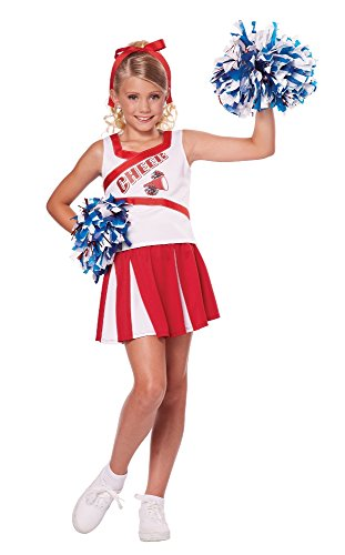 California Costumes High School Cheerleader Costume, 6-8 (Cheer Halloween Costumes)