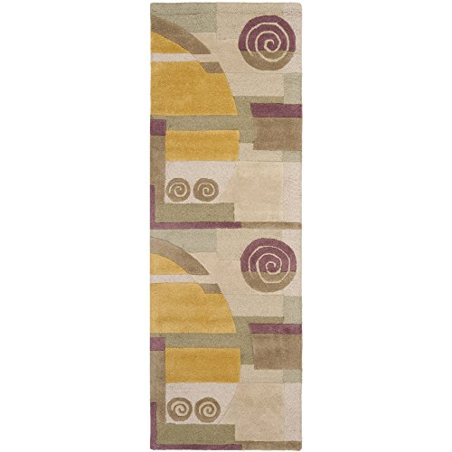 10' Rodeo Drive Collection (Safavieh Rodeo Drive Collection RD643A Handmade Modern Abstract Beige Wool Runner (2'6