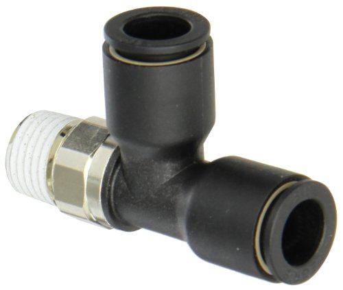 Brass Male Run Tee - Legris 3103 60 14 Nylon & Nickel-Plated Brass Push-to-Connect Fitting, Run Tee, 3/8