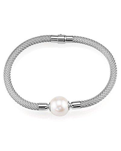 12 mm Blanc perle de culture Dhalia Bracelet