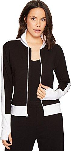 KAMALIKULTURE Norma Kamali Women's Side Stripe Turtle Jacket Black/White X-Small (Jacket Matte Straight)