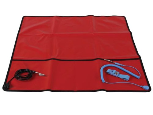 - Velleman AS9 Anti-Static Field Service Kit (Red) - Portable anti-static work surface - 24