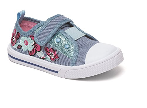 Mädchen Canvas Turnschuhe Pumpen Plimsole Sommer Größe Alter Chatterbox blau pink Beth