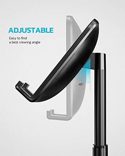 Nulaxy Phone Stand, Height Angle Adjustable Cell Phone Stand, Phone Holder For Desk Compatible With IPhone12 Mini 11 Pro Xs Xs Max Xr X 8 7 6 6s Plus, All Smartphones - Black