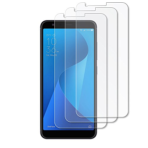 Gzerma Asus ZenFone Max Plus M1 Screen Protector Film, [High Definition HD Clear] [Case Friendly] [Easy to Install] Front Protective Cover for ASUS ZenFone Max Plus ZB570TL 5.7 Phone (3-Pack)