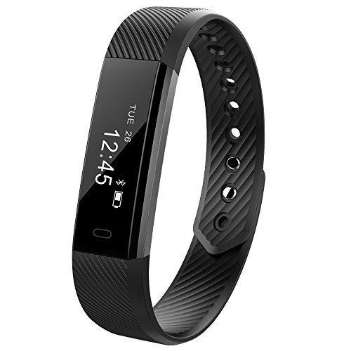 Ginsy Fitness Tracker Smart Wristband with Touch Screen Sleep Monitor Bluetooth Smart Bracelet for Android IOS