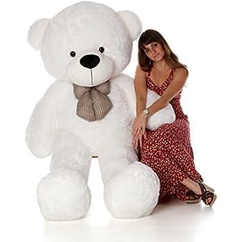6 Foot Life Size Teddy Bear Heavenly White Color Fluffy Plush Toy Teddy Bear Coco Cuddles
