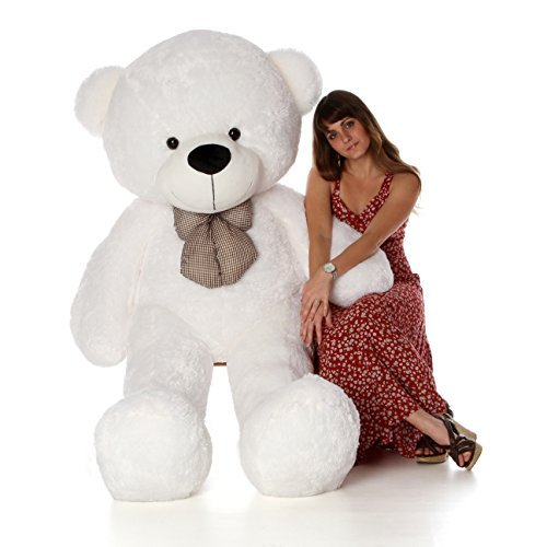 Cuddle White Bear - 6 Foot Life Size Teddy Bear Heavenly White Color Fluffy Plush Toy Teddy Bear Coco Cuddles
