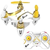 Smallest Mini RC Drone, One Key Return, Headless Mode, 2.4GHz 6 Axis Gyro Remote Control Helicopter Small Quadcopter Nano Drone for Kids & Beginners Adults (White) DIYI Model D20