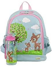 Bobble Art Large Backpack and Drink Bottle Woodland Animals