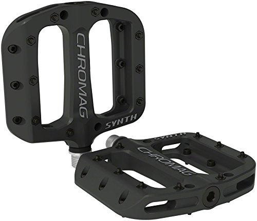 Chromag Synth, Platform Pedals, Nylon body, Cr-Mo axle, 9/16', Black - 183-001-01