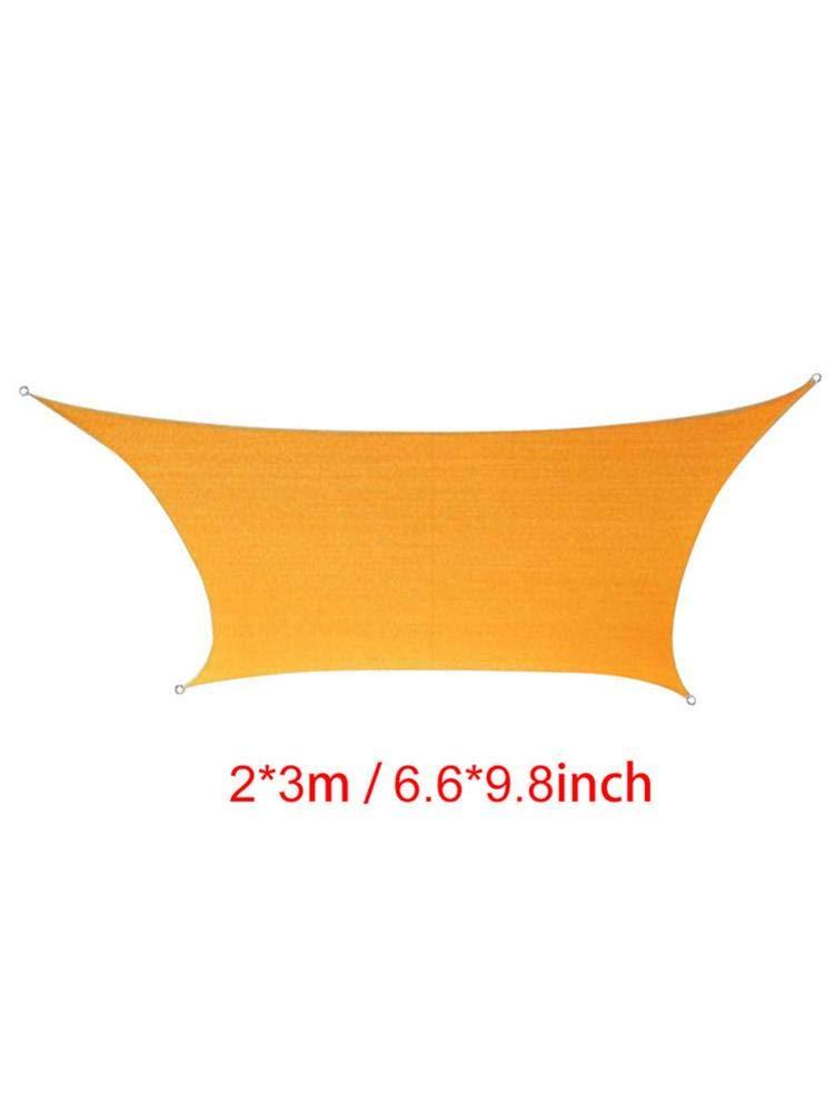 LUCYPAPASHOW Voile d'ombrage Rectangulaire 4x4, Auvent Imperméable Protection UV pour Jardin Terrasse Extérieur Piscine avec Corde Libre (Champagne)