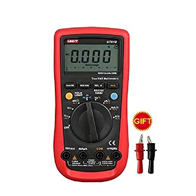UNI-T UT61D Digital Multimeter Auto Range True RMS AC DC Volt Capacitance Frequency Resistance Tester Software CD & Data Hold