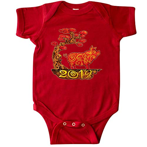 inktastic - 2019 Year of The Pig Infant Creeper 6 Months Red 32d69
