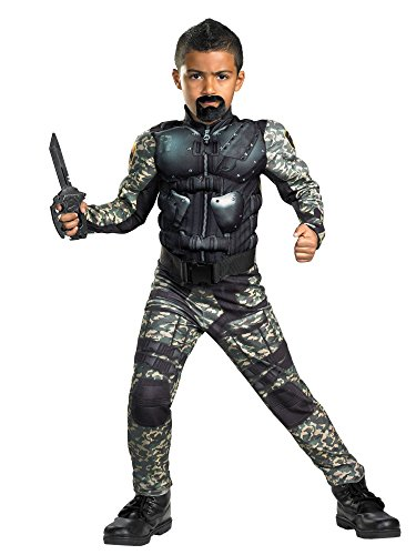 G.i. Joe Retaliation Roadblock Classic Muscle Costume, Black/Camo, Small -